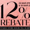 Tangs: 12% Rebate + Up to 70% OFF + Up to $120 Beauty Vouchers & More!