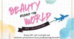 Tangs: Enjoy 10% off Selected Beauty Brands from Across The World!