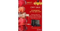 [O.P.I] LIKE & Share OUR PAGE if You ❤ OPI! OPI Singapore On-Line Store CNY SALE from NOW till 15 FEBRUARY 2017.