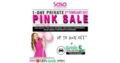 [Sasa Singapore] Sasa #PinkThursday gone wild. 1-DAY PRIVATE PINK SALE is back with up to 80% OFF STOREWIDE* plus #GRAB your
