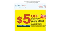 [Fairprice] Get $5 OFF* your order today!