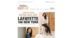 [Last Call] EXTRA 40% off NEW Lafayette + 30%–75% off EVERYTHING else