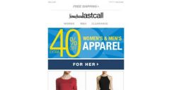 [Last Call] Fresh picks >> extra 40% off APPAREL for her & him
