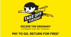 Scoot: Extended Take Off Tuesday – Pay to Go, Return for FREE!