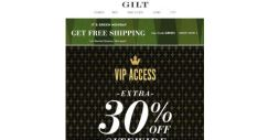 [Gilt] Don't Forget Your Extra 30% Off