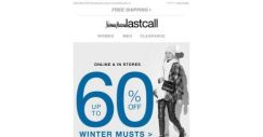 [Last Call] Wear it NOW: up to 60% off winter musts