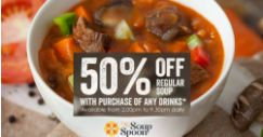 The Soup Spoon: Flash This Image to Enjoy 50% OFF Any Regular Soup!