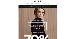 [Gilt] Ends Soon: Everything 70% Off in Our Warehouse Sale
