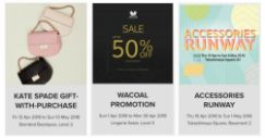 Takashimaya: Kade Spade Gift-with-Purchase, Wacoal Sale with Up to 50% OFF & Accessories Runway Sale