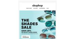 [Shopbop] 25% off select sunglasses!