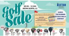 Isetan Scotts: Golf Sale on Golf Equipment & Apparel