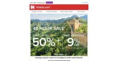 [Hotels.com] 📣 You only have 48 hours to save up to 50% + extra coupon!