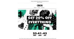 [ASOS] 20% off everything for 24 hours!