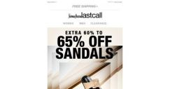 [Last Call] Sandals extra 60%–65% off
