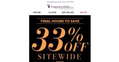 [FragranceNet] Last chance! 33% OFF ends tonight