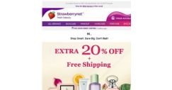 [StrawberryNet] 🚨 Extra 20% Off + Free Shipping Lets Your Inner Shopaholic Go WILD