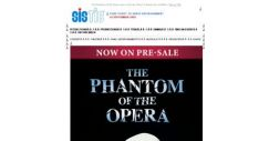 [SISTIC] The Phantom of the Opera, now on Presale. Hurry! Limited seats available.