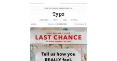 [typo] It's your last chance to get 30% off!