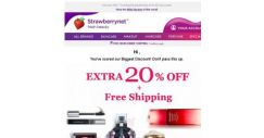 [StrawberryNet] LUCKY YOU ⭐ Get Extra 20% Off All Beauty Sitewide + FREE Shipping