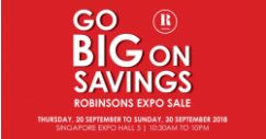 Robinsons: Expo Sale 2018 with Up to 80% OFF Fashion, Cookware, Homeware & More!