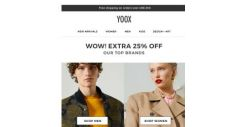 [Yoox] WOW! There's an EXTRA 25% OFF Dolce & Gabbana, Tod's and other top brands