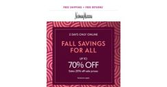 [Neiman Marcus] 2 days only: Extra 25% off