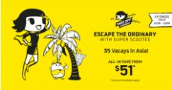 Scoot: Extended Take-Off Tuesday with All-In Fares from SGD51 to Penang, Langkawi, Phuket, Hong Kong & More!
