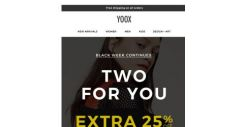 [Yoox] Black Week continues: EXTRA 25% and 30% OFF
