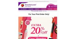 [StrawberryNet] , Extra 20% Off + Free Shipping is Exclusively Yours