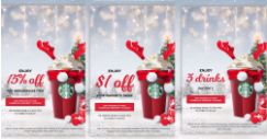 Starbucks: Flash Screen Grabs to Get 15% OFF One Merchandise Item, $1 OFF Your Favourite Drink, 3 for 2 Drinks & More!