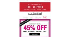 [Last Call] TODAY >> extra 45% off gifts for her, him, & the home