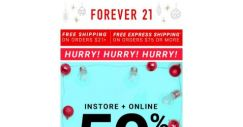 [FOREVER 21] Wrap it up with 50% off these winter treats!