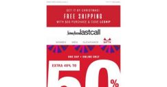 [Last Call] Your lucky day: extra 40%–50% off ENTIRE SITE
