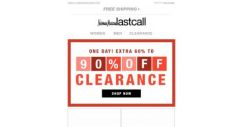 [Last Call] 1 day: Extra 60%–90% off clearance