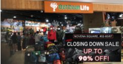 Outdoor Life: Crazy Closing Down Sale at Novena Square with Up to 90% OFF Travel, Outdoor & Everyday Essentials