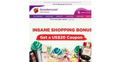 [StrawberryNet] , Get a US$20 Coupon with a US$100 spend!
