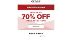 [Crocs Singapore] Now it's ON‼ Mid-season Sale up to 70% OFF‼