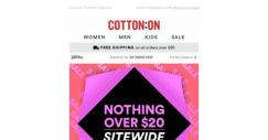 [Cotton On] 😱 NOTHING OVER $20 😱