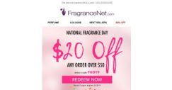 [FragranceNet] $20 OFF E-V-E-R-Y-T-H-I-N-G! National Fragrance Day