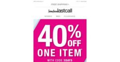 [Last Call] * You're in luck * We're gifting you 40% off {OMG}