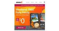 [Jetstar] $0^ fares to Bangkok, Taipei and more! Sale ends tonight, don't miss out.