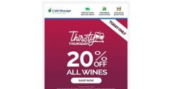 [Cold Storage] (24 Hours Only) 20% OFF All Wines