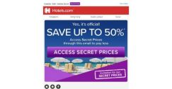 [Hotels.com] ✨ Lucky day ✨ You've got access to Secret Prices: pay up to 50% less!