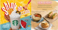 Starbucks: Shiok-ah-ccino is BACK with FREEShiok Reusable Straw & Straw Clip Set Plus NEW Local Delights!