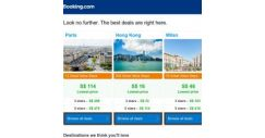 [Booking.com] Paris, Hong Kong and Milan — great last-minute deals as low as S$ 16!