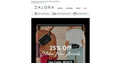 [Zalora] Hot new arrivals at EXTRA 25% Off!