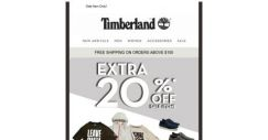 [Timberland] Save Extra 20% Off Selected Styles