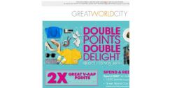 [Great World City]  Double Points Double Delight at Great World City (18 Oct – 10 Nov 2019)