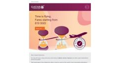 [Qatar] Time is flying. Fares starting from 819 SGD
