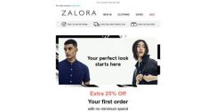 [Zalora] Get EXTRA 25% off your first order!